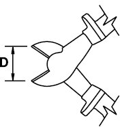 ALICATE CORTE DIAGONAL REFORZADO TITACROM® BIMAT 1000 V 200 MM