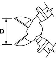 ALICATE CORTE DIAGONAL MASTERCUT TITACROM® BIMAT 1000 V 160 MM