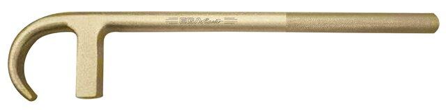 LLAVE DE VALVULA TIPO F 25 x 250 MM CON MANGO MOLETEADO ANTICHISPA Cu-Be