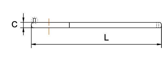 LLAVE DE GANCHO CON PIN ARTICULADA 18-40 MM