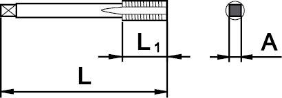 """SET DE 2 TARAUDS GAS (BSP) 1/8"""" × 28"""