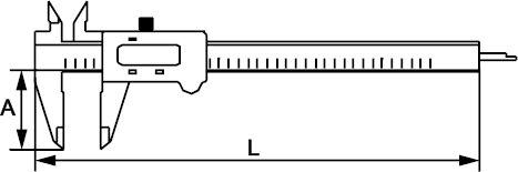 PIED À COULISSE DIGITAL PLASTIQUE INOX 150 MM × 0,01 MM