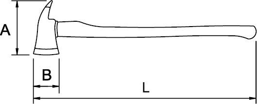 HACHE POUR POMPIERS 3300 GR 430 MM