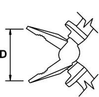 PINCE UNIVERSELLE MASTERCUT TITACROM® BIMAT 1000 V 165 MM