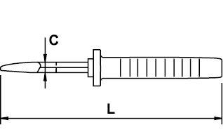 PINCE COUPANTE DIAGONALE RENFORCEÉ MASTERCUT TITACROM® BIMAT 1000 V 180 MM