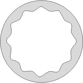"""DOUILLE 1/2"""" SERIE LONGUE 12 PANS ANTIDÉFLAGRANT AL-BRON 36 MM"""