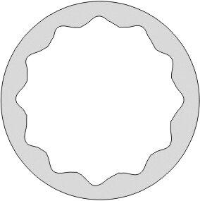 """DOUILLE 1/2"""" SERIE LONGUE 12 PANS ANTIDÉFLAGRANT AL-BRON 1.1/8"""""""