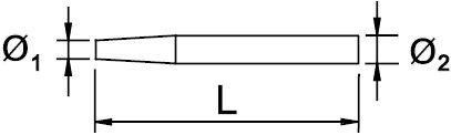 "CHASSE CLOU ANTIDÉFLAGRANT AL-BRON 250 × 26 MM 1.3/8"""