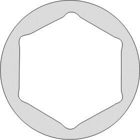 DOUILLE 1/2 STANDARD 6 PANS ANTIDÉFLAGRANT AL-CU-BE 34 MM