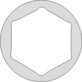 "DOUILLE 1"" STANDARD 6 PANS ANTIDÉFLAGRANT CU-BE 1.3/8"""