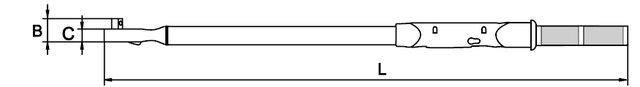 """CLÉ DINAMOMÉTRIQUE DIGITAL SANS COMMUNICATION DE DONNÉES 3/4"""" 25 500 NM"""