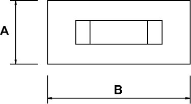 TRUELLE ANTIDÉFLAGRANT AL-BRON 150 × 300 MM